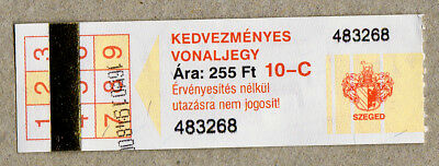 Hungary Szeged Ticket / 1  Fahrkarte (278)