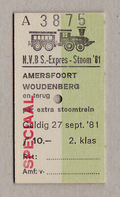 Nvbs Expres Stoom 81 Netherlands Railway Ticket / Fahrkarte (426)