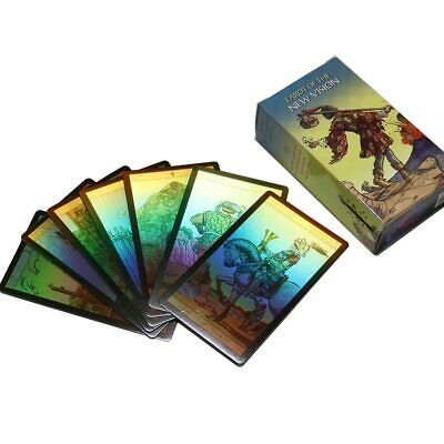 Holographic Tarot Cards Deck Future Telling Divination Rider Waite 4 Languages