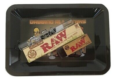 Raw All-Stars Rolling Kit Tray Bundle Kit King Size Papers Raw Tips GRAV Chillum
