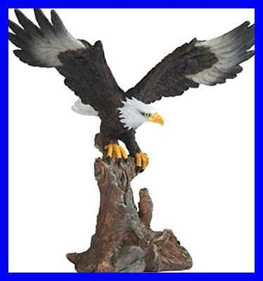 "Bald Eagle On BROWN Branch Figurine 6.75"" DIFFUSER NATURAL Home"