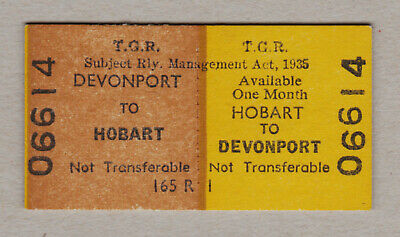 Tasmanian Government Railways Ticket / Fahrkarte (388)
