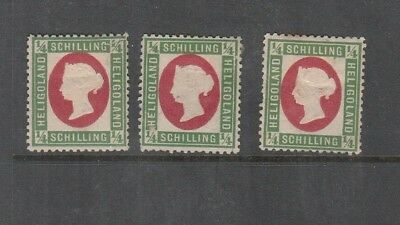 Heligoland 1869 1/4 Schilling Green-Rose Mint, You Are Buying One Value Only