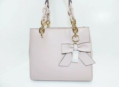 41ab2275d1a6 NWT MICHAEL KORS CYNTHIA SMALL N S Convertible Satchel In SOFT PINK Leather   298