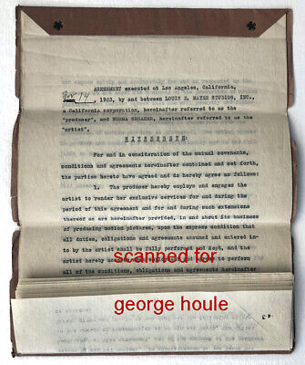 Norma Shearer - Contract - Irving Thalberg - Signed  By Both - 1923