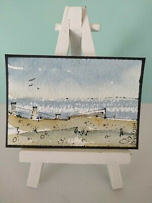 Original Watercolour Painting ACEO - Deserted Sands