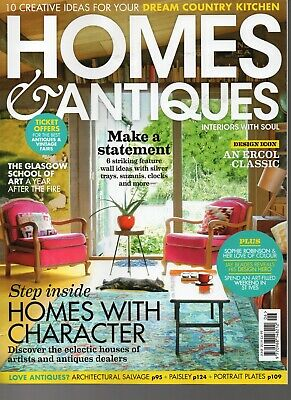 Homes & Antiques magazine. June 2019. NEW.