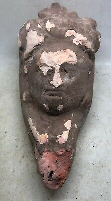 Ancient Roman Terracotta Oil Lamp With Face