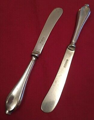 Pair Of Antique Edwardian Silver Plated Butter Knives c.1900-1910