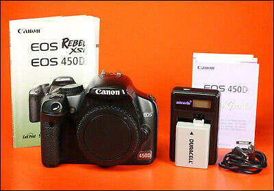 Canon EOS 450D DSLR Camera, Sold With Battery,& USB Charger, Manual 9,318 Shots