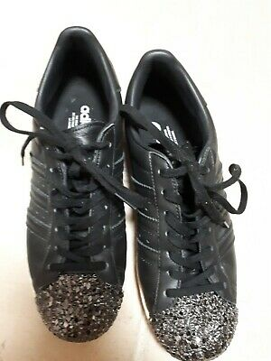 ADIDAS SUPERSTAR 80'S 3D METAL TOE BLACK WOMENS TRAINERS