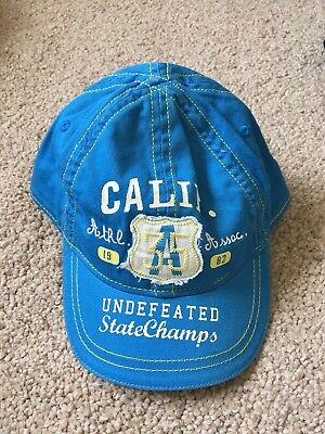 BNWOT Next Baseball/ Peaked Cap. Bright Blue/ Calif. Boys. Age 0 - 6 Months
