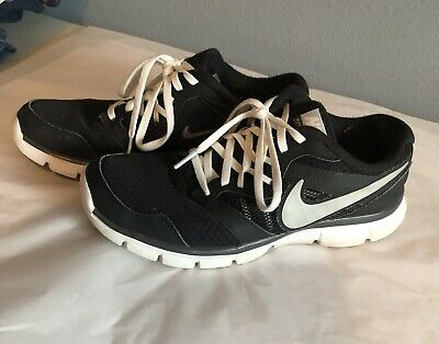 a1b89321d053 NIKE FLEX EXPERIENCE RN 3 - RUNNING ATHLETIC SHOES BLACK WHITE Woman s SIZE  8.5