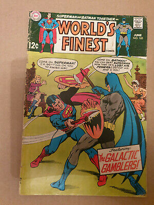 dc superman and batman together in the worlds finest comics june no185