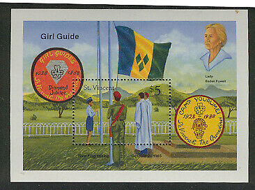 ST VINCENT 1989 GIRL GUIDES 60th Ann LADY BADEN POWELL SS