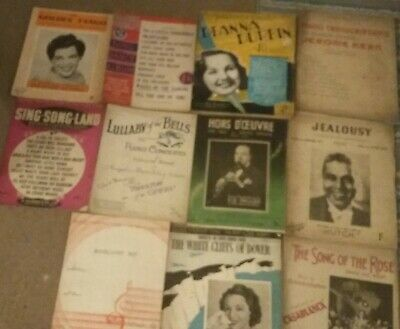 Vintage piano sheet music, popular songs from 1940s/50s. Collectibles, 11 books