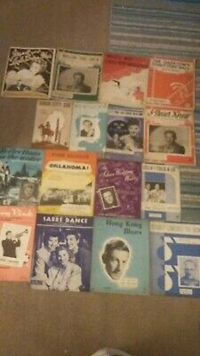 Vintage piano sheet music, popular songs from 1940s/50s. Collectibles, 16 books