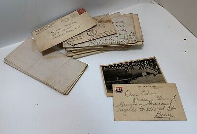 17 WWII Letters Lot Air Corps-Photo + Postcard