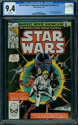Marvel Movie Showcase Featuring Star Wars 1 CGC 9.4 - White Pages