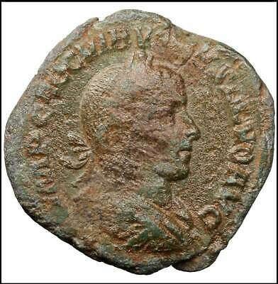 Volusian Sestertius ancient roman coin Rome Empire Imperial Authentic Sesterz