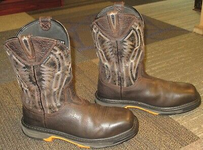 452e615159f MENS ARIAT WORKHOG XT Dare Carbon Toe Leather Work Boots sz 9.5 EE ...