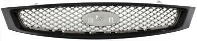 CPP Gray Grill Assembly for 2005-2007 Ford Focus Grille