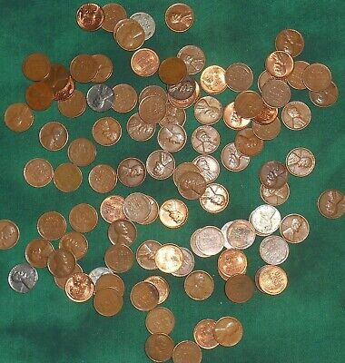 Unsearched lot 2 rolls of Wheat Cents Penny teens - 1950s - Nice collection #50
