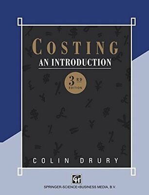 Costing: An Introduction by Drury, Colin Paperback Book The Cheap Fast Free Post