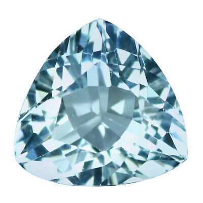1.31Ct IF Incomparable Trillion Cut 7 x 7 mm 100% Natural Blue Beryl