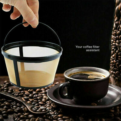12 Cups Reusable Coffee Filter Permanent Metal Mesh For basket-style coffeemaker