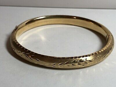 14k Yellow Gold Spain Oroamerica? Bangle Bracelet