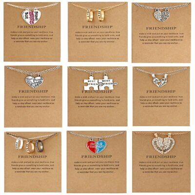 Best Friends Letter Necklace Pendant Clavicle Chains Choker Card Women Jewelry
