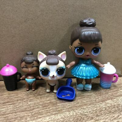 Lot 3 LOL Surprise Doll big sister LiL Sister MISS BABY Pet glam SERIES 2 doll