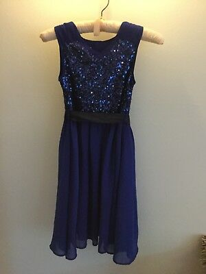 Monsoon Girls Bright Blue Sequin Embellished Party/Wedding Dress 9 Years 8 10