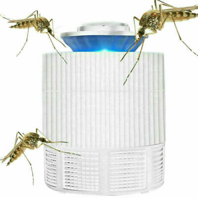 Electric Mosquito Zapper Fly Insect Bug Killer Trap Lamp Light Bulb White USB UK