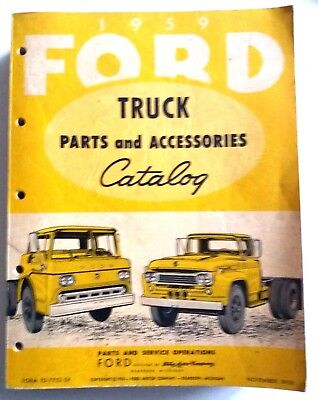 FORD motor company TRUCK 1959 catalogue  819 pages revue technique manuel camion