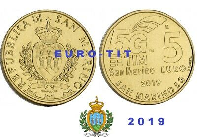 5 €  SAINT MARIN    COMMEMORATIVE   2019 .     5  G       disponible   2019