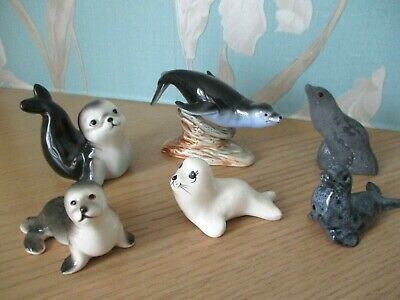 Collection Of  6 x Vintage - SEALS -  Figurines / Ornaments ALL IN VGC