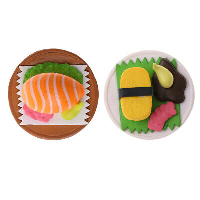 1:12 Japanese Food Supply Sushi in Plate Miniature Dollhouse Accessory