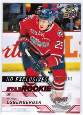 18/19 UPPER DECK CHL HOCKEY STAR ROOKIE UD EXCLUSIVES CARDS #301-400 U-Pick List