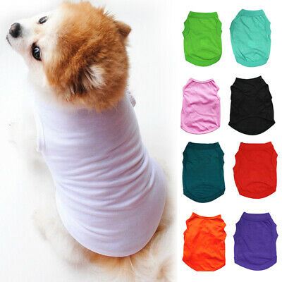 Pet Solid Clothes Basic Cotton Dog Puppy Vest Apparel Summer T-Shirt Simple Tops