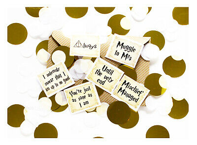 Coco&Bo Muggle To Mrs Hen Party Table Confetti - Harry Potter Gold Decorations