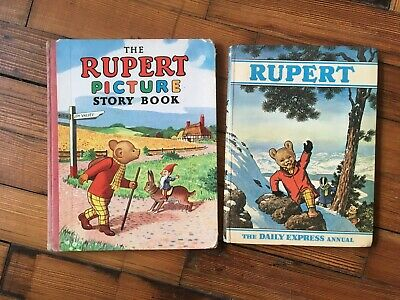 Vintage Collectable 1950's The Rupert Picture Story Book Hardback