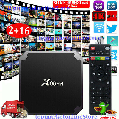 2019 MX10PRO 4K Android 8.1 Smart TV Box 2+16G Quad Core 3D WIFI H.265 Media AU