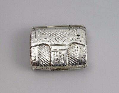 Georgian Silver Novelty Vinaigrette Purse Bag Satchel Lawrence & Co. 1818