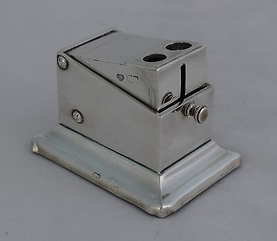 Stylish Edwardian Silver Table Cigar Cutter c.1900 Goldsmiths & Silversmiths Co.