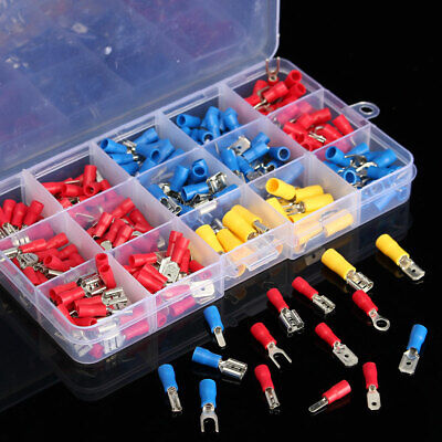280PCS Insulated Assorted Electrical Wire Terminals Crimp Connector Spade Kit UK