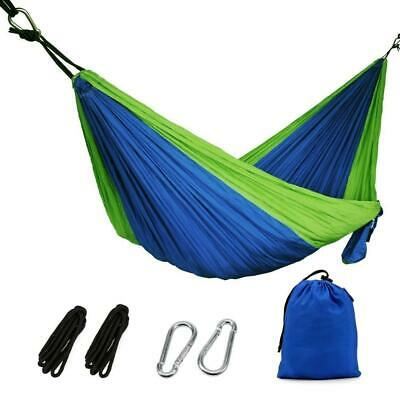 """OYISIYI Portable Double Camping Hammock, 105"""" long X 65"""" Wide, 601-Pound..."""