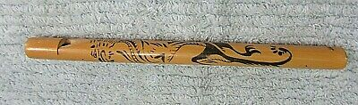 "Bamboo Wood 8"" Asian Dragon Old Handmade Japan Flute Music Instrument FREE S/H"