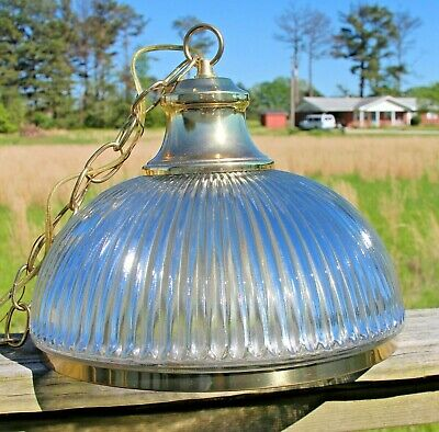Antique Hanging Ceiling Mount Fixture Lamp Light Pendant Art Glass shade w/chain